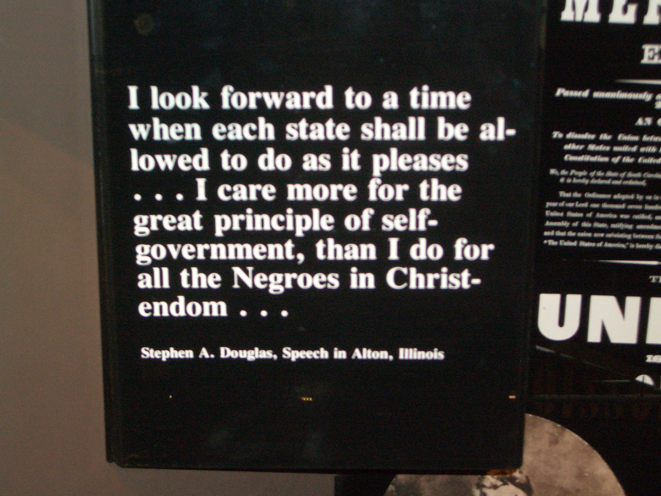 States Rights quote from St. Louis Arch museum